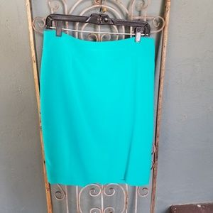 LOFT beautiful turquoise pencil skirt
